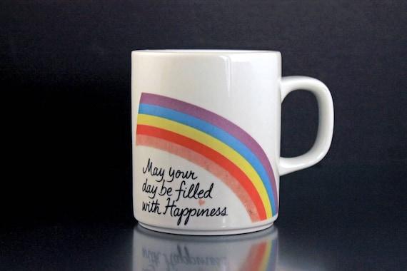 Mug, Avon, Happiness, Rainbow, Easter, 1984, Coffee Mug, Tea Mug, Hot Chocolate Mug,