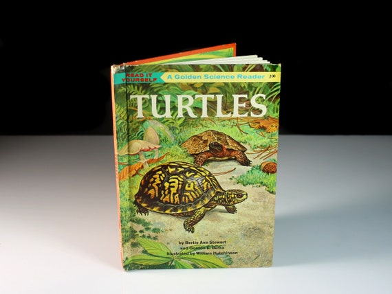 Children's Hardcover Book, Turtles, Science, Non-Fiction, Herpetology, Illustrated, Collectible