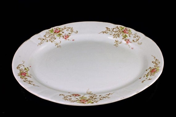 Antique Platter, Severn, 1898, The Crescent Pottery, Trenton New Jersey,