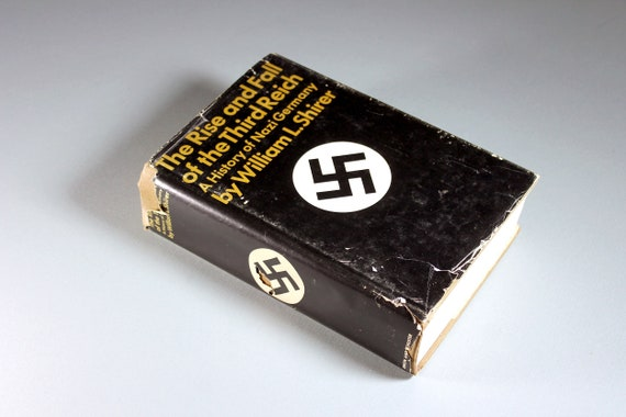 1960 Hardcover Book, The Rise and Fall of the Third Reich, First Edition, 25th Printing, Non-Fiction,  European History, Military History