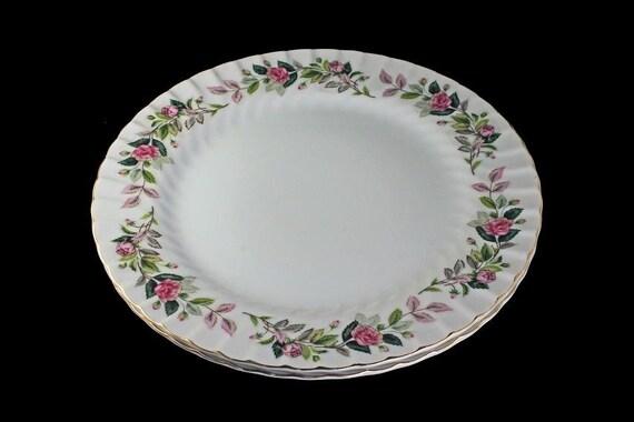 Dinner Plates, Creative Fine China, Regency Rose, Japan, Set of 2, Large