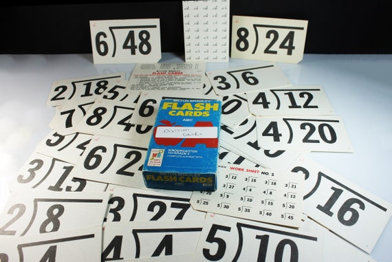 Division Flash Cards, Milton Bradley, Parent and Teacher Aids, Home School, Teaching Tools, Teaching Game
