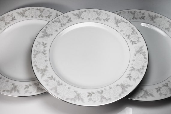 Dinner Plates, Fine China of Japan, Adele, Floral, Set of 3