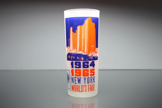 Collectible Souvenir Tumbler, 1964 World's Fair, Hall of Science, 16 Ounce, Drinking Glass