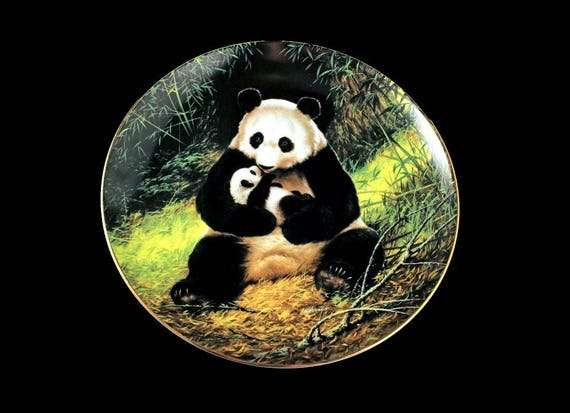 1988 Collectible Plate, W S George China, The Endangered Species, The Panda, Limited Edition, Decorative Plate, Wall Decor, New In Box