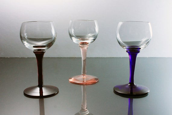 Cordial Glasses, Dessert Wine Glasses, Cocktail Glasses, Liqueur Glasses, Set of 3, Barware