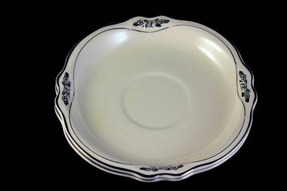 Saucers, Homer Laughlin, Silver Rose-Patrician, Platinum Florals and Trim, Virginia Rose Shape, Set of 2, Fine China