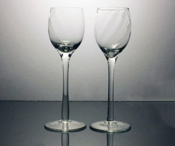 Cordial Glasses, Dessert Wine Glasses, Cocktail Glasses, Liqueur Glasses, Swirled Bowls, Set of 2, Barware