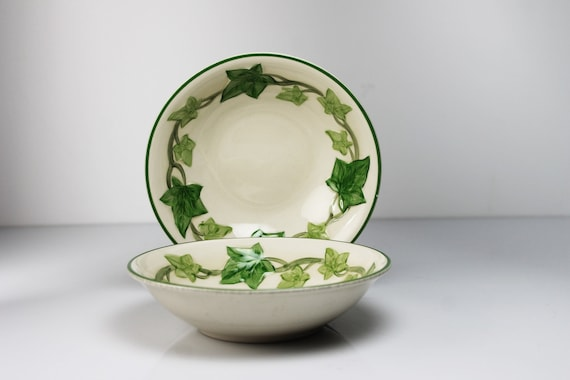 Cereal Bowls Franciscan California, Ivy, 6 Inch, Soup Bowl, Set of 2