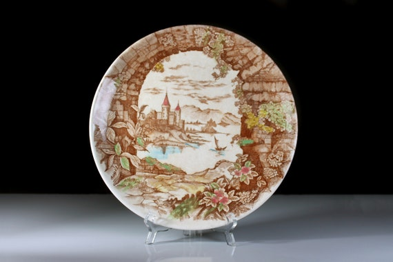 Dinner Plate, Castle Harbor, Ucagco China,  Japan, Decorative, Wall Plate, Display Plate