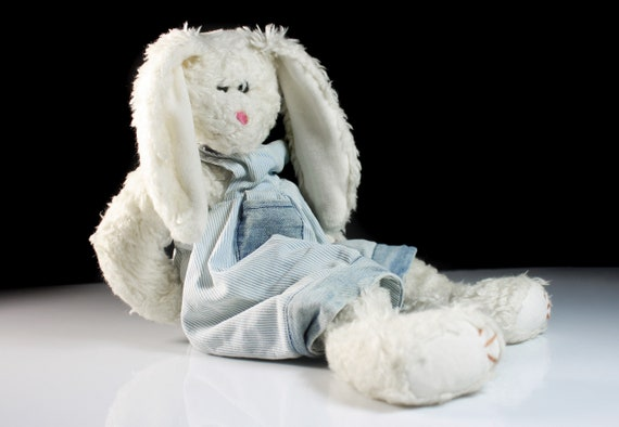 TY Bunny Stuffed Animal, Heather, Attic Treasures Collection, Plush, Retired, 16 Inch, Collectible