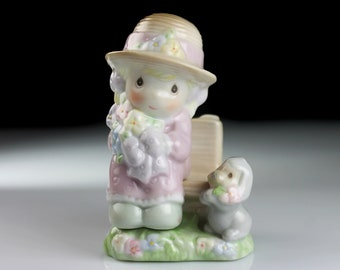 Salt and Pepper Set, Precious Moments, Seasoned With A Smile, Enesco, Shakers, Figural, Collectible