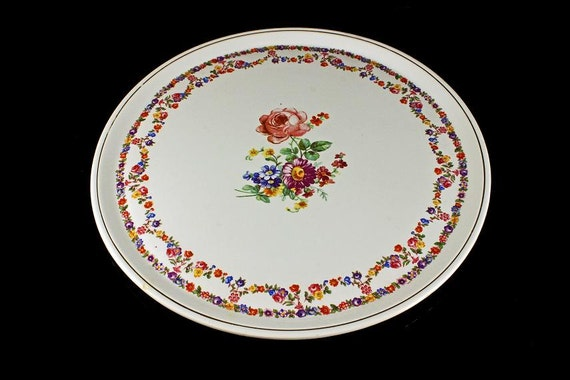 Cake Plate, Granit, Made in Hungry, Floral, Porcelain