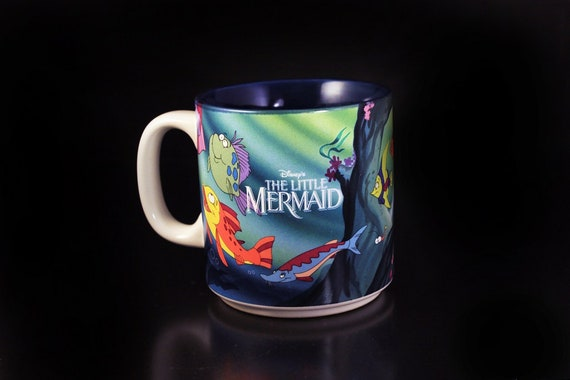 Disney Mug, The Little Mermaid, Coffee Mug, Tea Mug, Hot Chocolate Mug, 10 Ounce, Collectible Mug, Children's Gift Idea