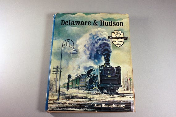 1967 Hardcover, Delaware and Hudson, Jim Shaughnessy, The Bridge Line, Signed, First Edition, History, Reference, Illustrated, B&W Photos