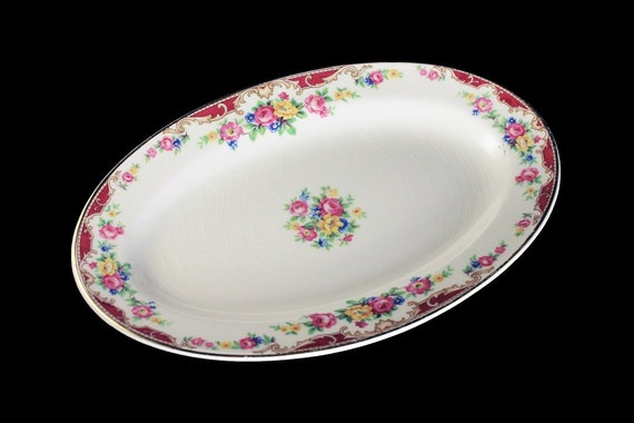 Underplate Platter, Edwin Knowles, Lido Pattern, Pink Roses, Floral, Small