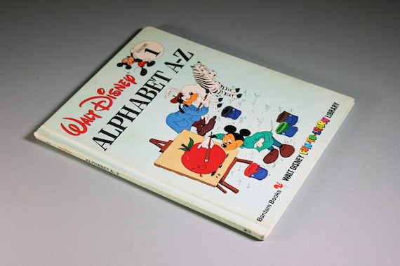 1983 Children's Hardcover Book, Walt Disney Alphabet A-Z, Beginning to Read, Collectible, Learning Tool