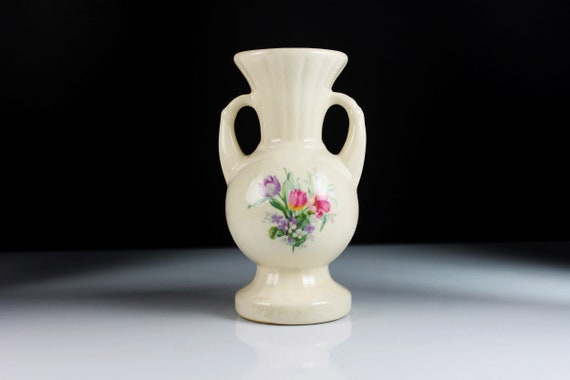 Two Handled Bud Vase, Porcelain, Table Vase