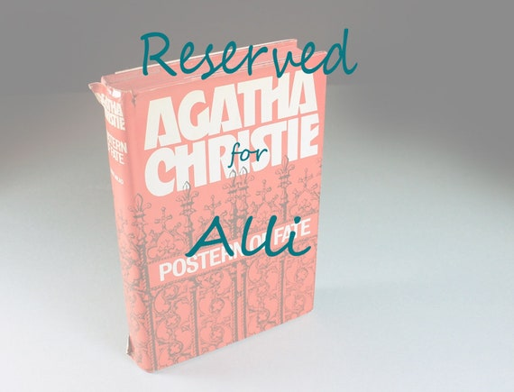 RESERVED FOR ALLI  1973 Hardcover Book, Postern Of Fate, Agatha Christie, Mystery, Novel, Fiction, Literature, Classic, Collectible