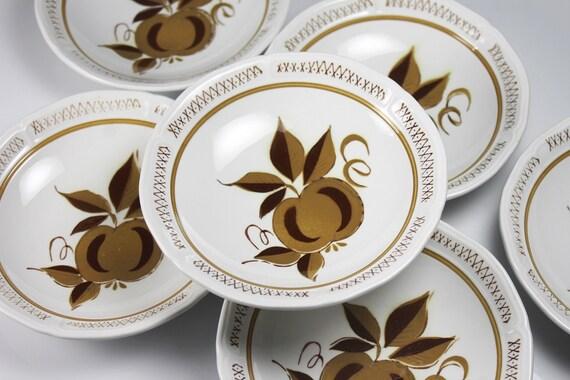 Mikasa Romano Fruit Bowls, Terra-Stone, Set of 6,  Dessert Bowls