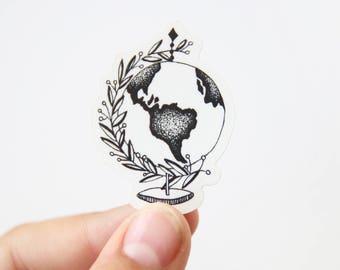 Mini Vinyl Globe Sticker