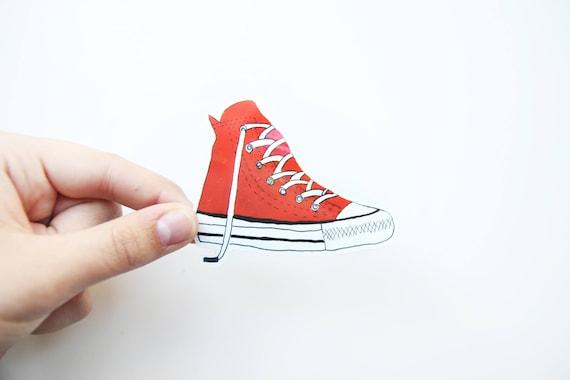 rote Laptop Schuh Sneaker Vinyl Converse Aufkleber rote Aufkleber zVpMGqSU