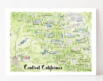 Map of fresno ca | Etsy Fresno California Map on