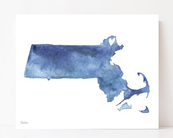 Newburyport Massachusetts Art, Newburyport Decor, Blue Watercolor, Newburyport Art, New England Art, Newburyport Map, Wall Art, Art Print