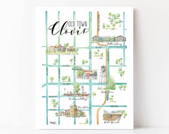 Clovis Ca Zip Code Map.Fresno California Wall Art California Map Art Fresno Ca Etsy
