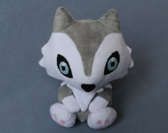 Custom Husky or Wolf Plush Stuffed Animal (MADE TO ORDER)