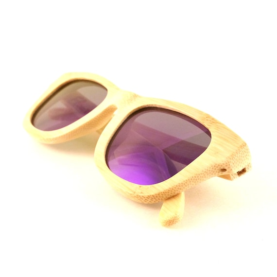 3d7308724a Bamboo Wood Sunglasses Polarized Lenses Flourish Purple
