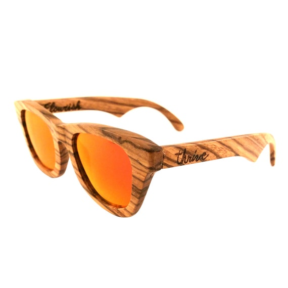 7a7976472b Zebra Wood Sunglasses Polarized Lenses - Flourish Red