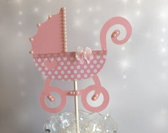 rose gold baby carriage centerpiece rose gold baby shower etsy rh etsy com Baby Crown Centerpiece Baby Crown Centerpiece