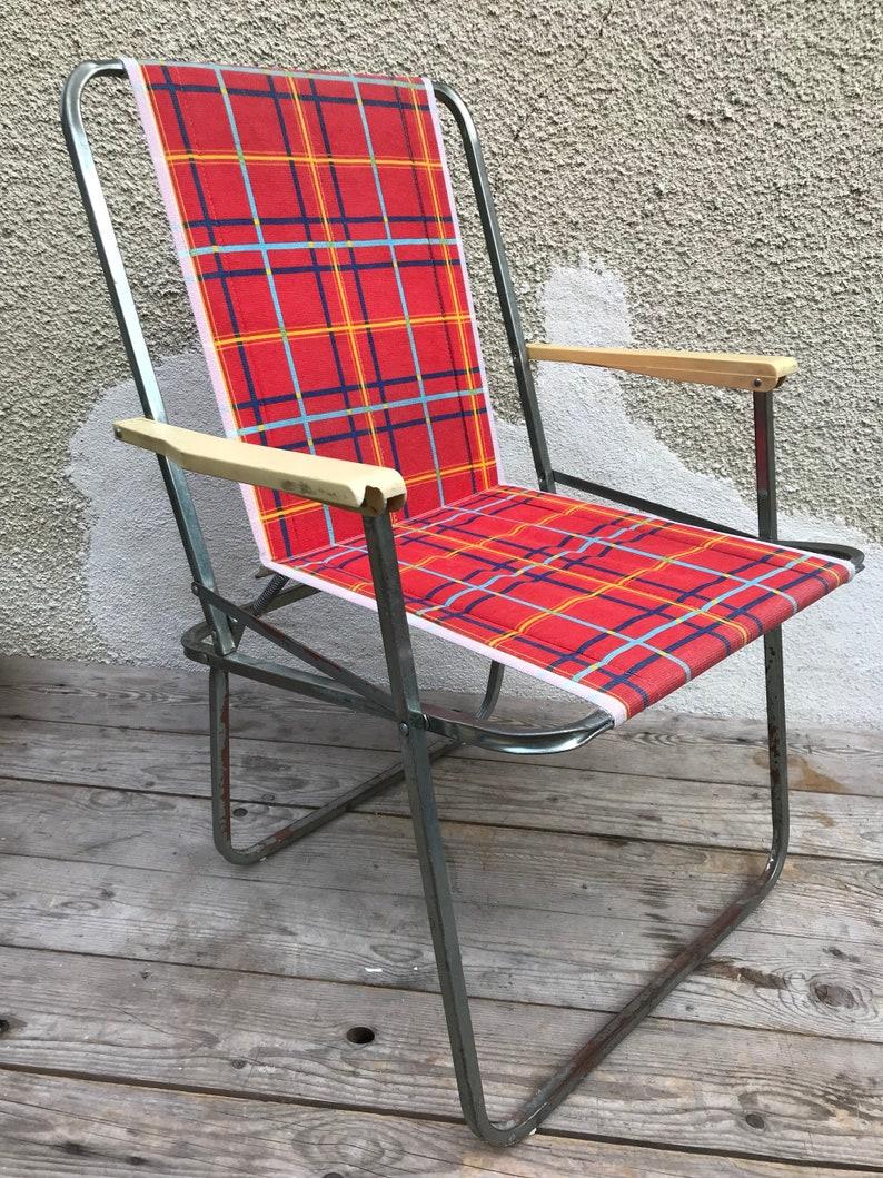 Tissu Pliante Alu Lerolin Chaise Ancienne Jardin ...