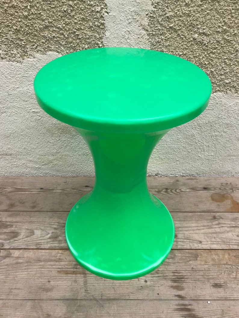 Stool Ottoman Old Stamp Tam Tam Ref 169 Safe Green 70s Etsy