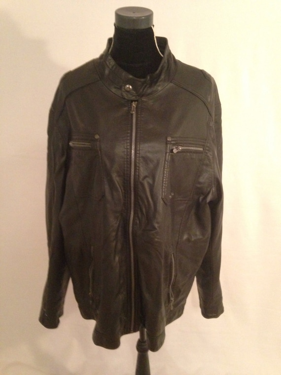 ANGELA LITRICO ALCW black Vintage Leather Jacket n858sns