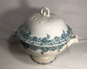 Old tureen ceramic Argenton St Amand 19th century Made in France Vintage