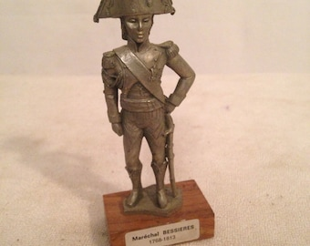 Figurine statue CHESTERMAN Prince Marshal BESSIERES Tin pewter