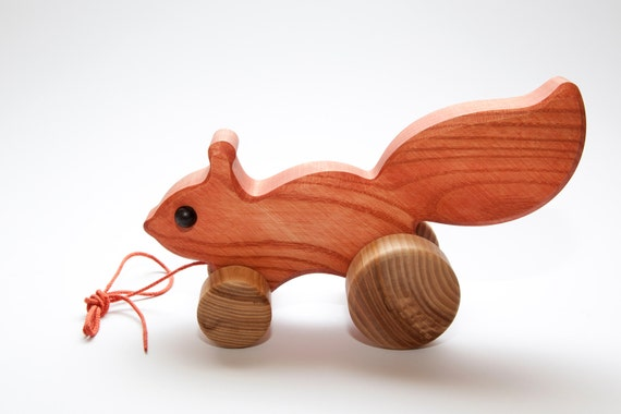 Squirrel Wooden Pen and Business Card Holder Wildlife Gift