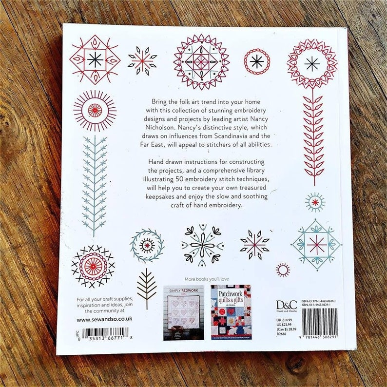 Modern Folk Embroidery 30 contemporary projects for folk art inspired designs by Nancy Nicholson