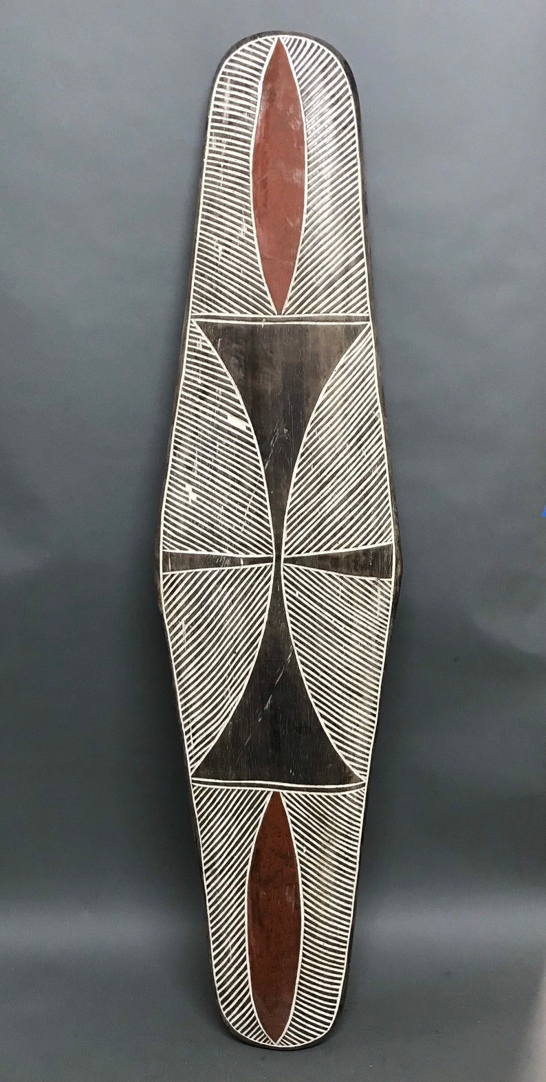 African Art Tribal Art Carved Wood Zulu Shield from South Africa