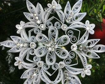 Quilling Christmas Snowflake Ornament