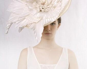 193388758bf21 Items similar to Stunning Wedding hat