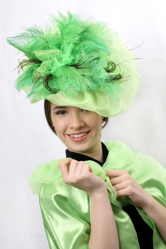 Green fascinator hat Kentucky derby hat Mint fascinator  66e706514ef