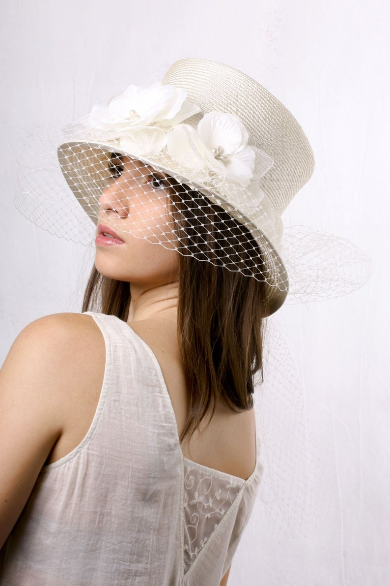 9aa0bcab8ee42 FREE SHIPPING Bridal veiled top hat wedding top hat High