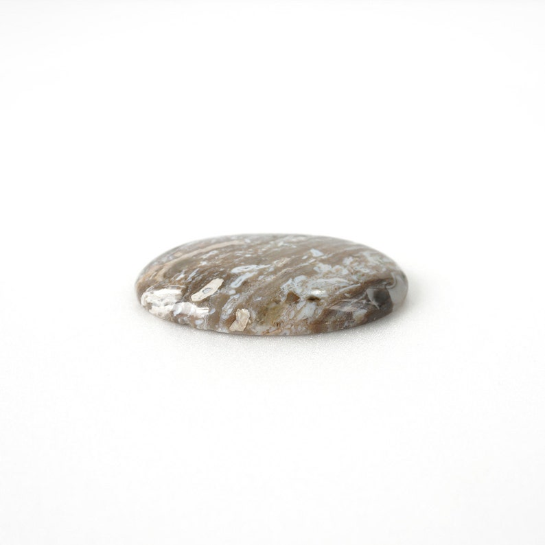 37x51mm Pendant Making Supply Wood Pattern Cabochon Stone Big Natural Agate Stone