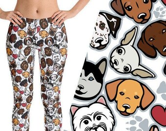 Cute Dog Print Leggings 4eaad4119