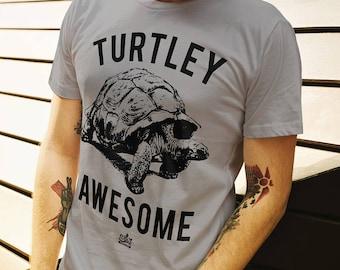 4bd504abd Turtley Awesome, Shirts With Sayings, Funny Turtle Shirt, Turtle Gift,  Animal Puns Tee, Funny Animal Shirt, Animal Lovers Tee, Turtle Lover