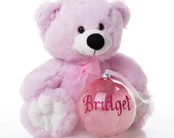 Pink Baby's First Christmas Teddy Gift Pack