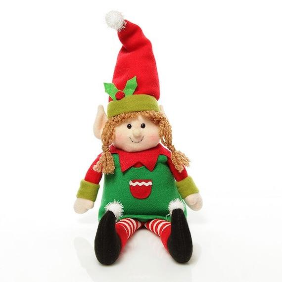 Girl Elf Shelf Sitter Etsy